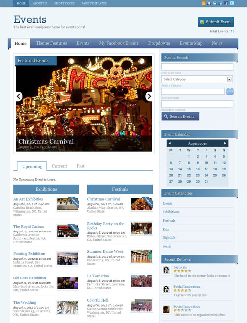Events WordPress Theme