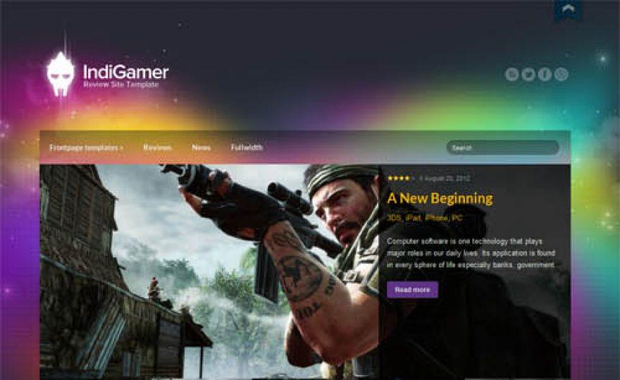 Indi Gamer WordPress Theme for Gaming Review Websites