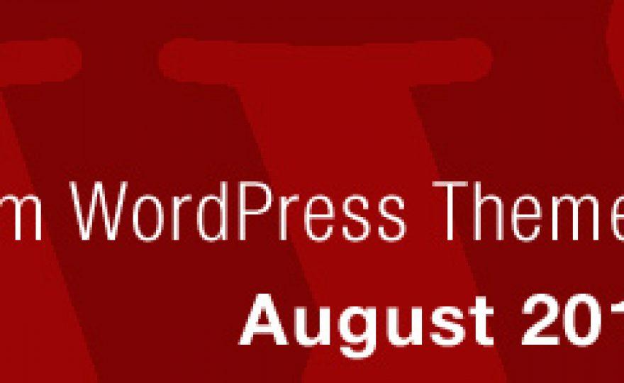 New Premium WordPress Themes August 2012