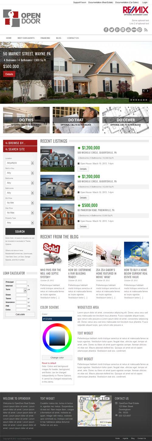 Open Door Responsive Real Estate Theme