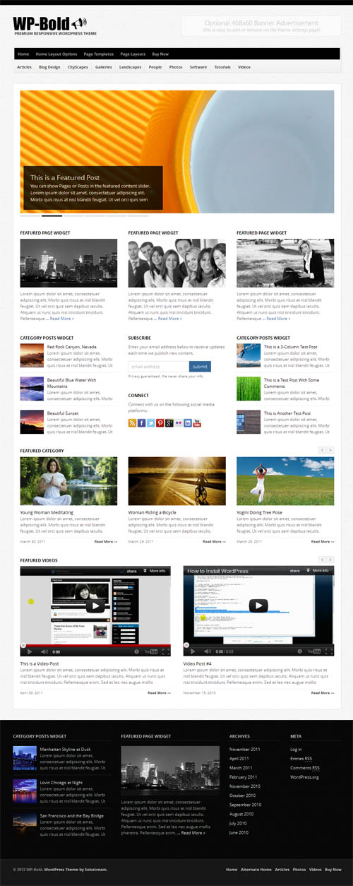 bold business wordpress theme
