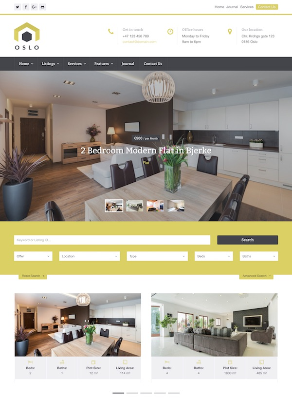 30+ Best Real Estate WordPress Themes 2019