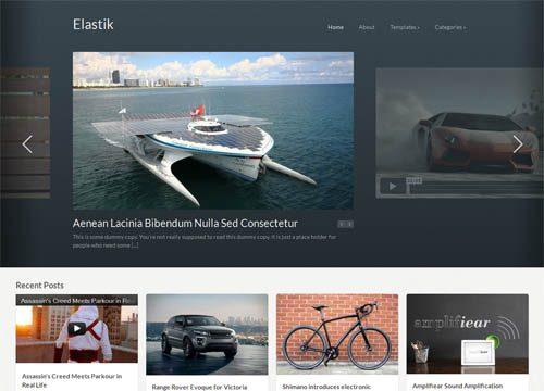 Fluid Grid WordPress Theme – Elastik