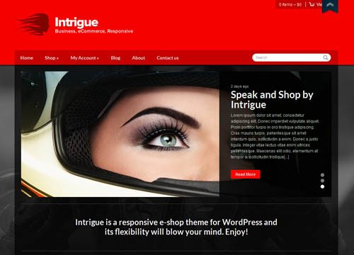 Intrigue – A Responsive WooCommerce Ecommerce WordPress Theme