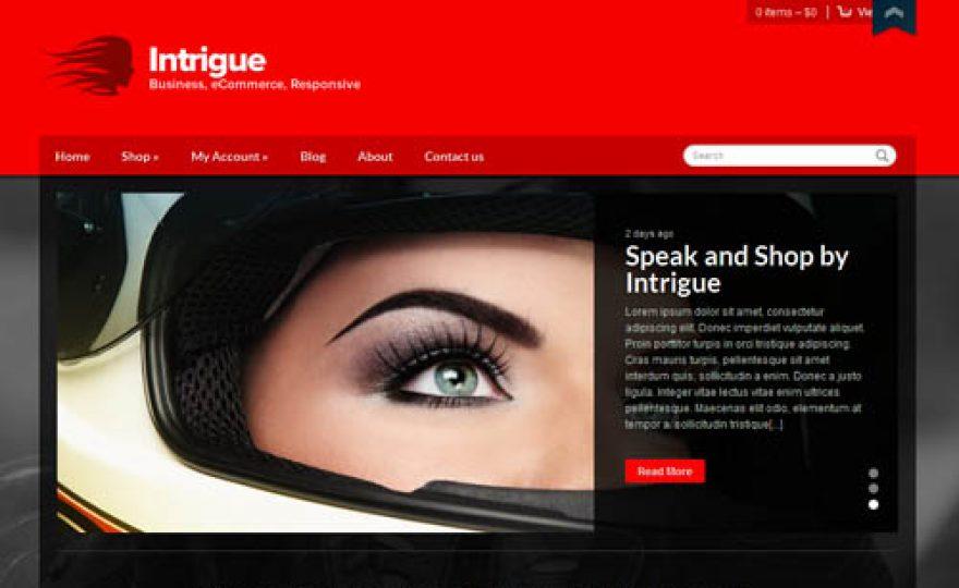 Intrigue – A Responsive WooCommerce Ecommerce WordPress Theme