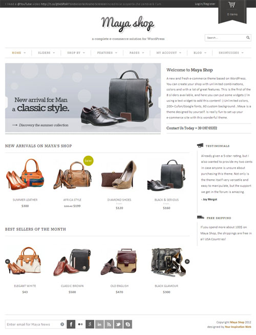 25 Premium Responsive Ecommerce WordPress Themes