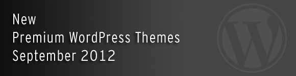 New WordPress Themes September 2012