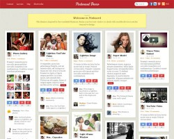 Pinterest WordPress Theme with Multisite – Pinboard v2