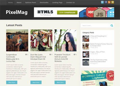 PixelMag Responsive Magazine WordPress Theme
