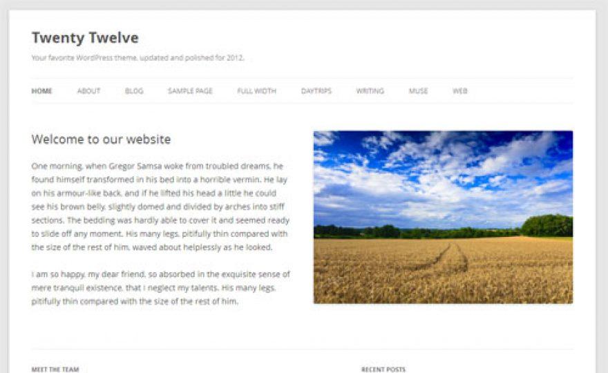Twenty Twelve WordPress Theme Released