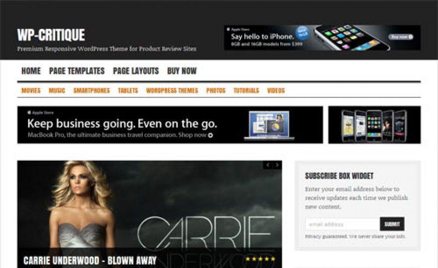 Product Review Magazine WordPress Theme – WP Critique
