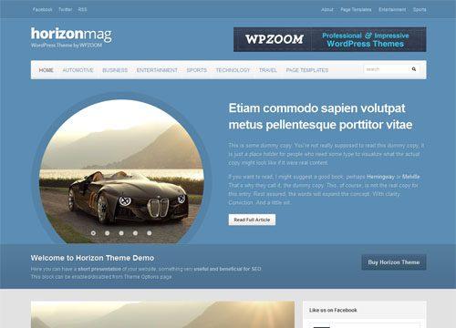 Modern Responsive Magazine WordPress Theme – Horizon