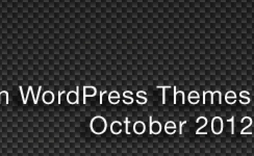 New Premium WordPress Themes October 2012