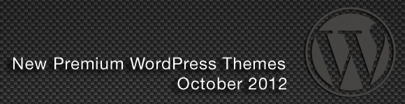 October 2012 WordPress Themes
