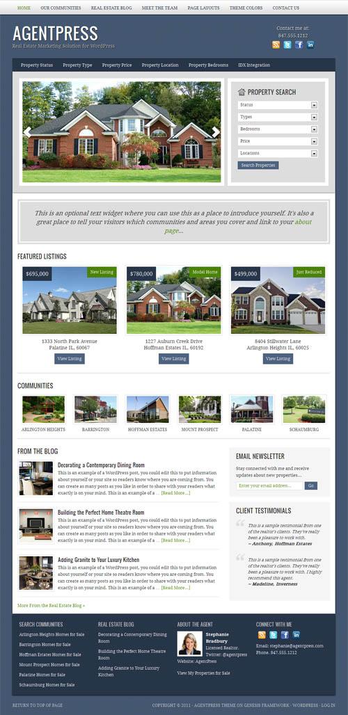 50+ Professional Real Estate WordPress Themes