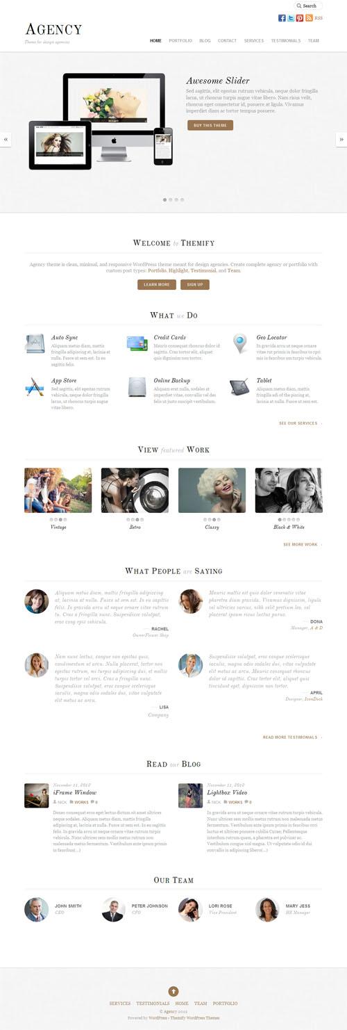 Agency Responsive Business WordPress Theme