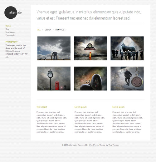 Alternate Responsive Portfolio WordPress Theme