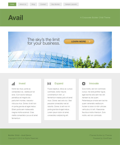 Avail Responsive Business WordPress Theme