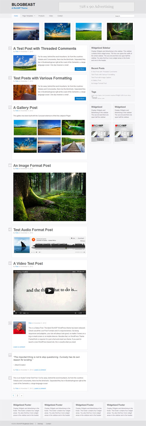 The Blog Beast Responsive WordPress Theme
