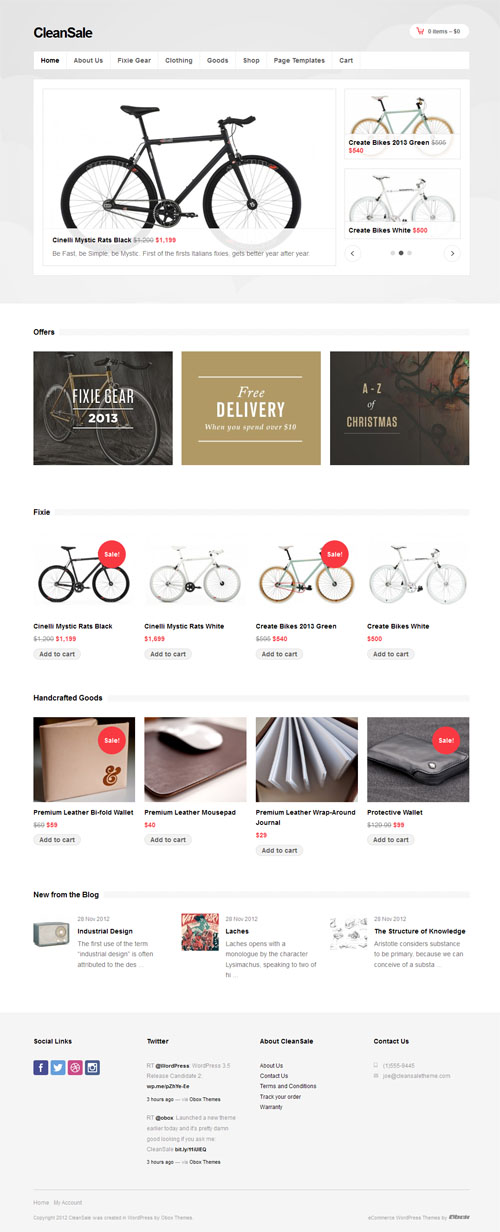 Cleansale Responsive Ecommerce WordPress Theme