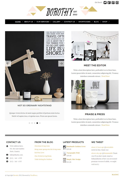 Dorothy Responsive WordPress Theme