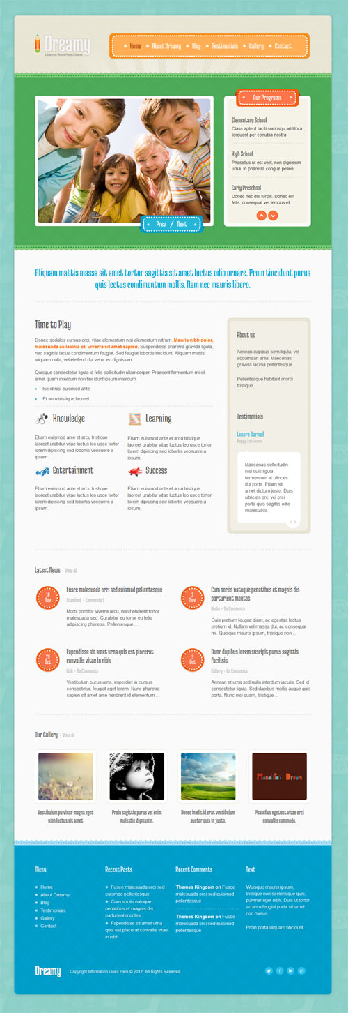 Kids Education & Child Care WordPress Theme