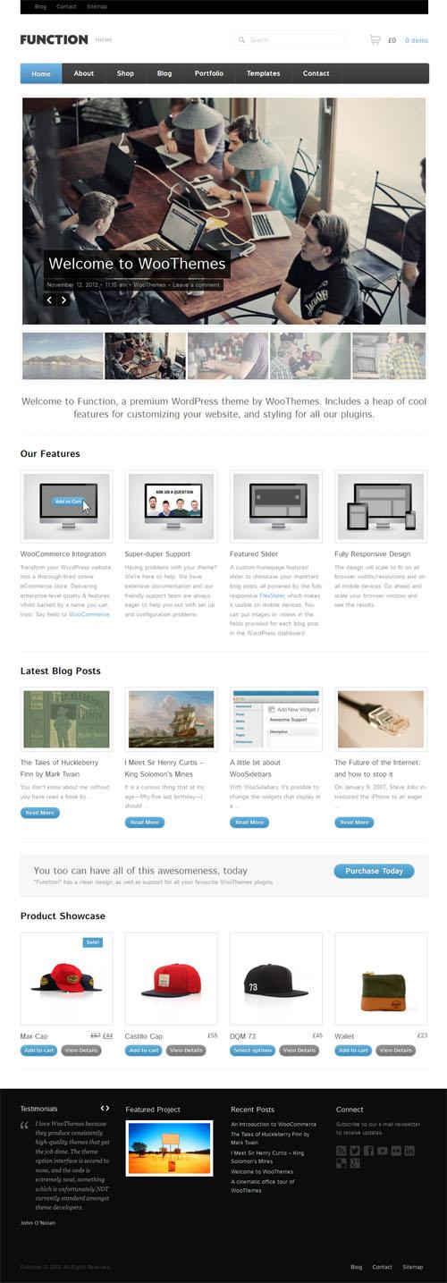 Function Responsive Premium WordPress Theme