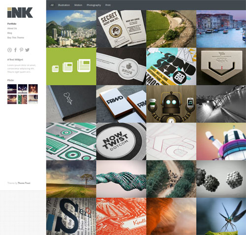 Ink Responsive Portfolio WordPress Theme