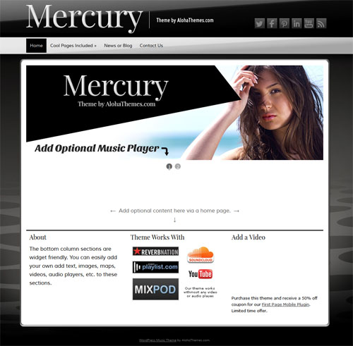 mercury music wordpress theme