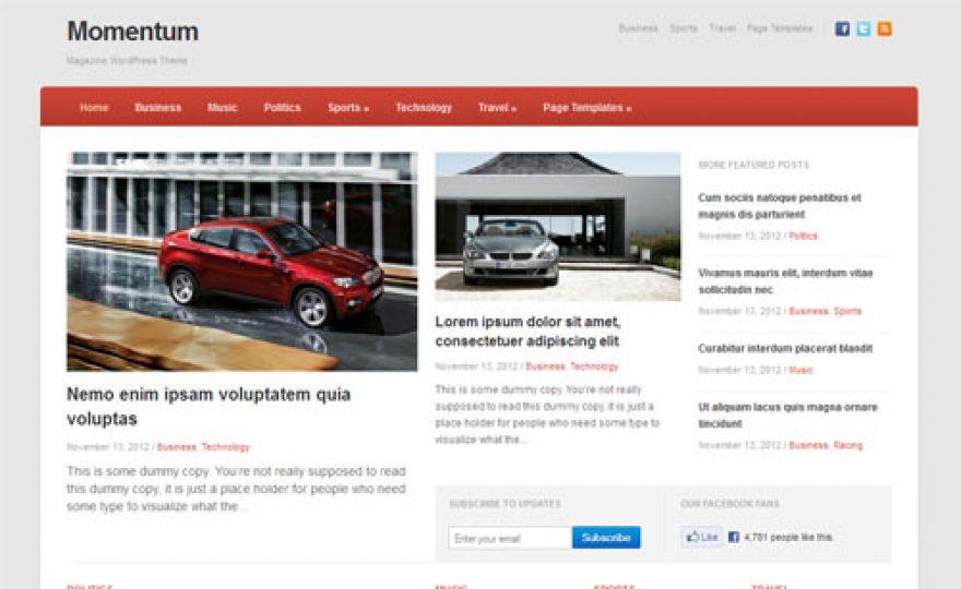 Responsive News Magazine WordPress Theme – Momentum