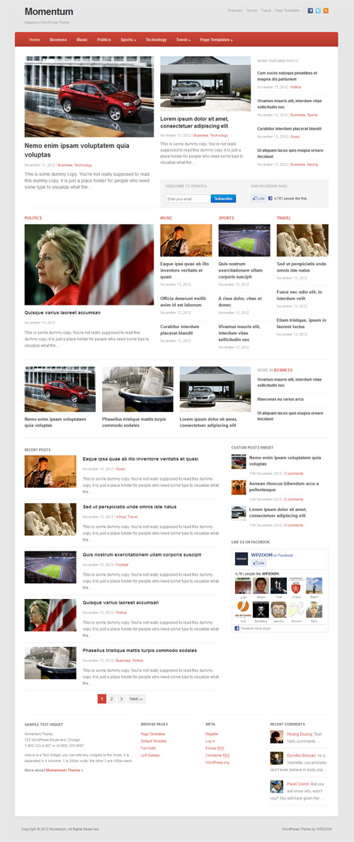 Responsive News Magazine WordPress Theme