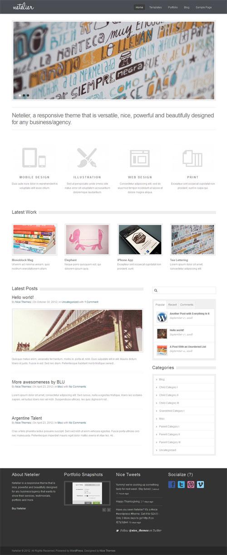 Netelier Responsive Premium WordPress Theme
