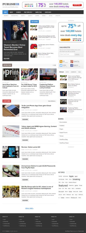 Publisher Premium WordPress Theme