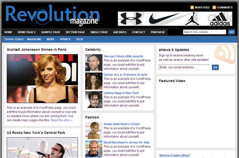 Revolution Magazine WordPress Theme