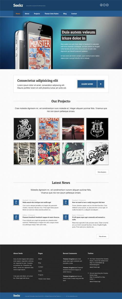 Seekr Responsive Business WordPress Theme