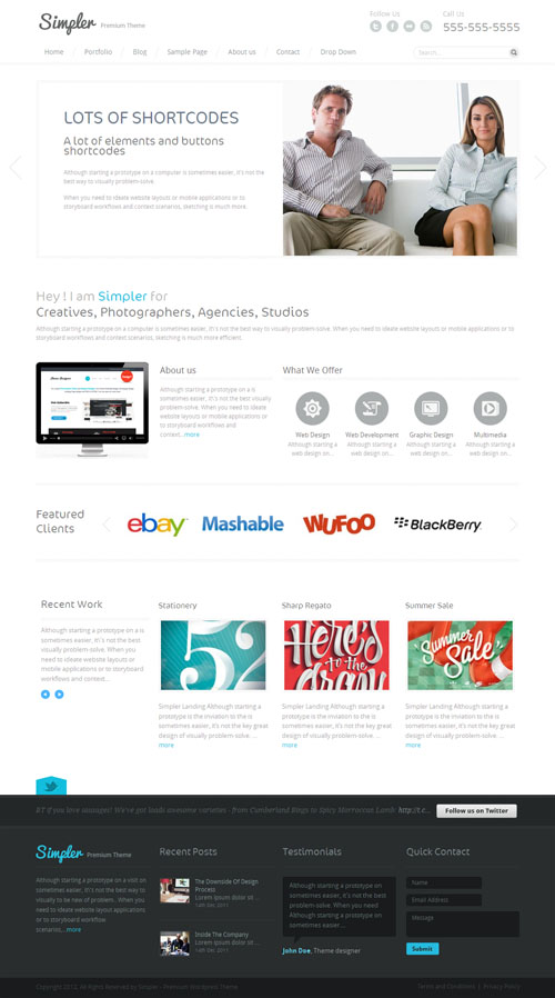 Simpler Minimalist WordPress Theme