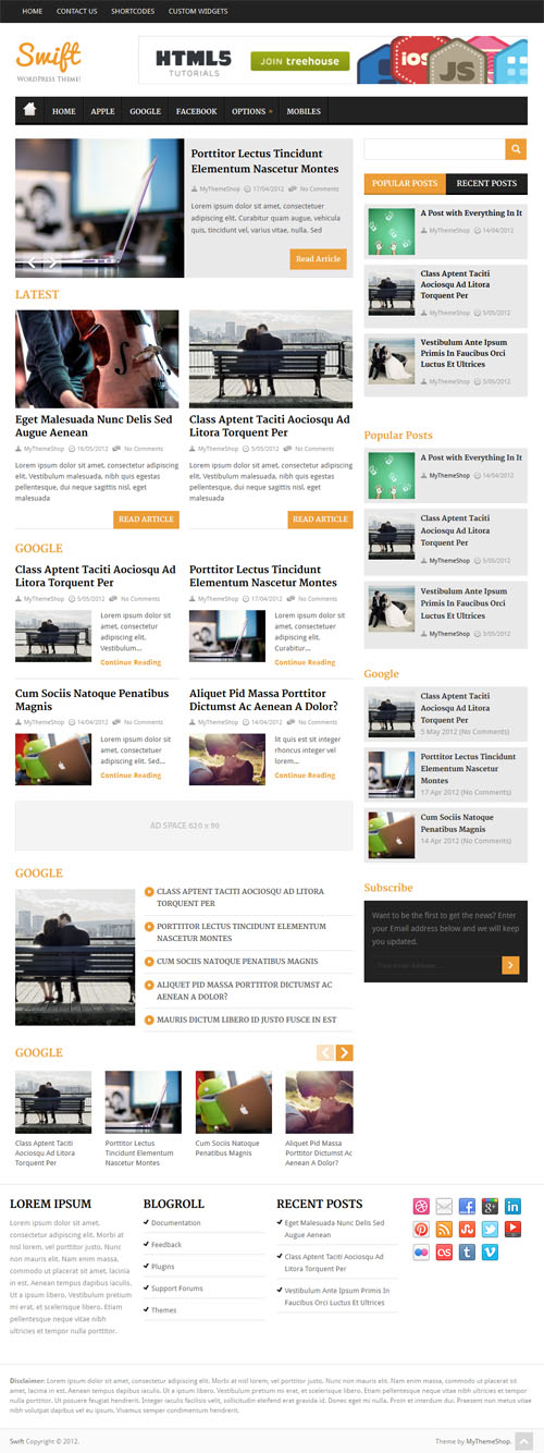 Swift Responsive Magazine WordPress Theme