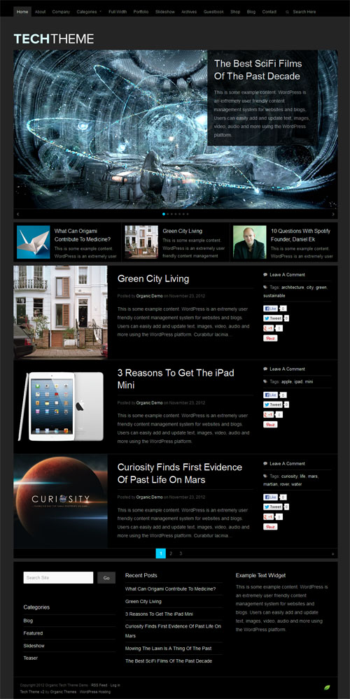 Tech 2.0 Premium WordPress Theme