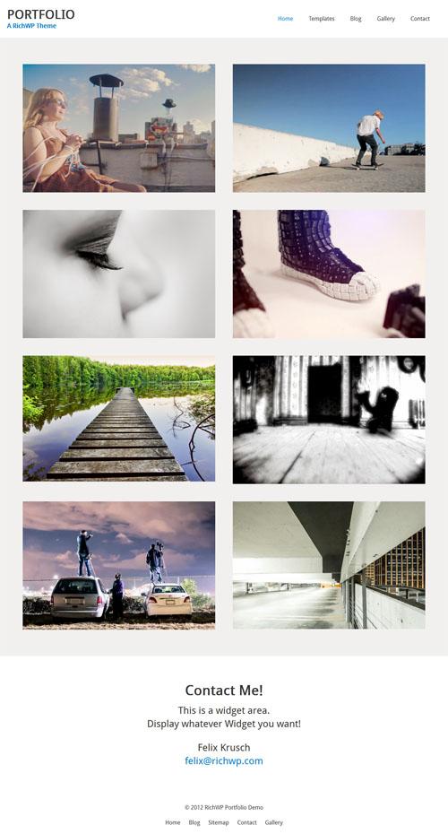 Responsive Minimalist WordPress Portfolio Theme
