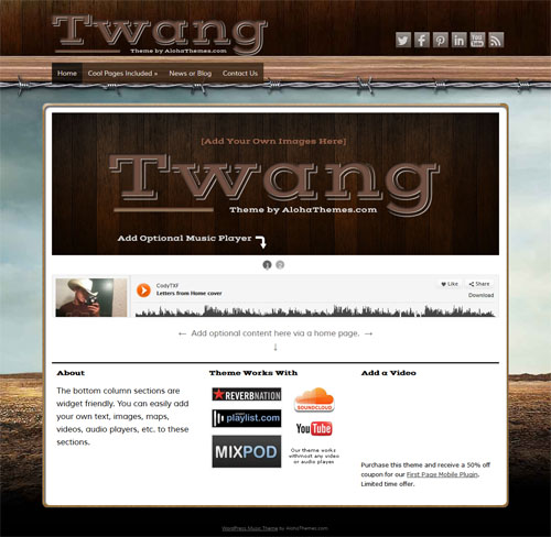 Twang Music WordPress Theme