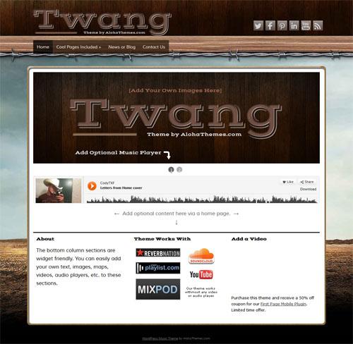 Twang Music WordPress Theme