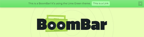 Boom Bar WordPress Notification Bar Plugin