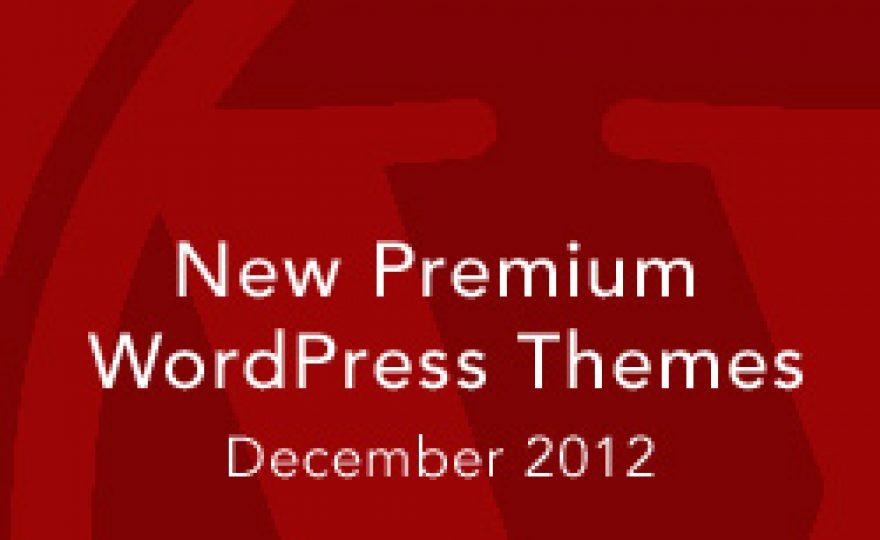 New Premium WordPress Themes December 2012