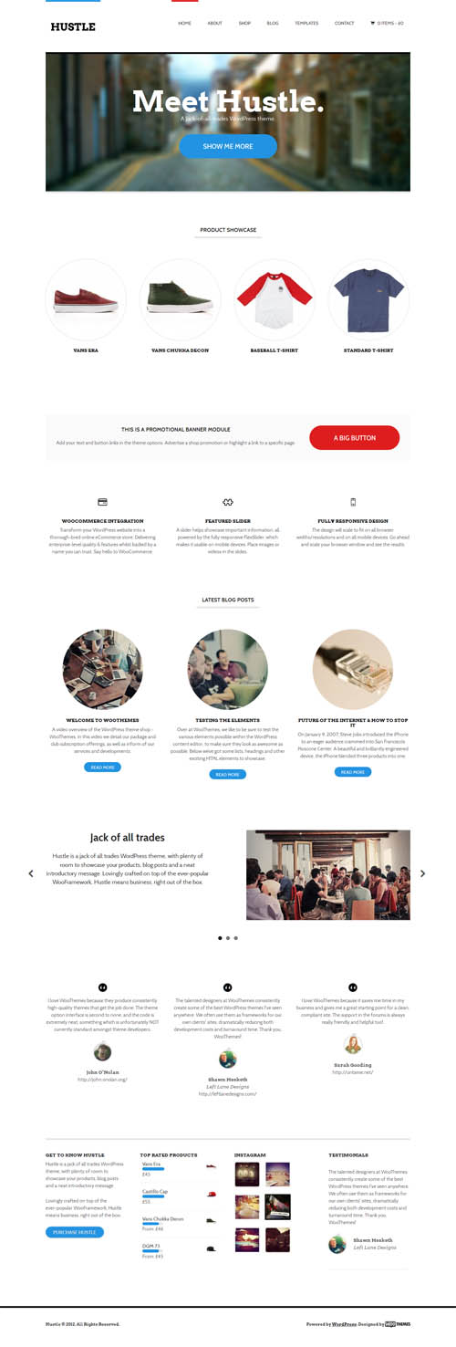 Hustle Multi-Purpose Premium WordPress Theme