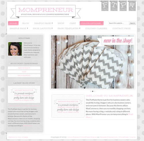 MomPreneur WordPress Theme