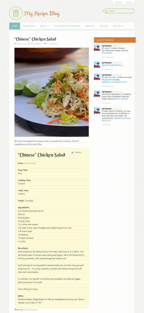 Yum Blog Food WordPress Theme