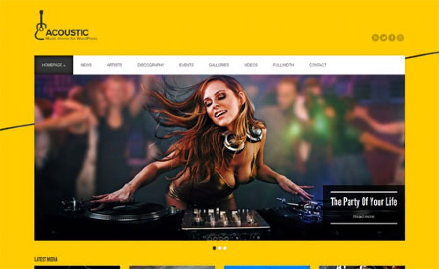 12 Fantastic Music WordPress Themes