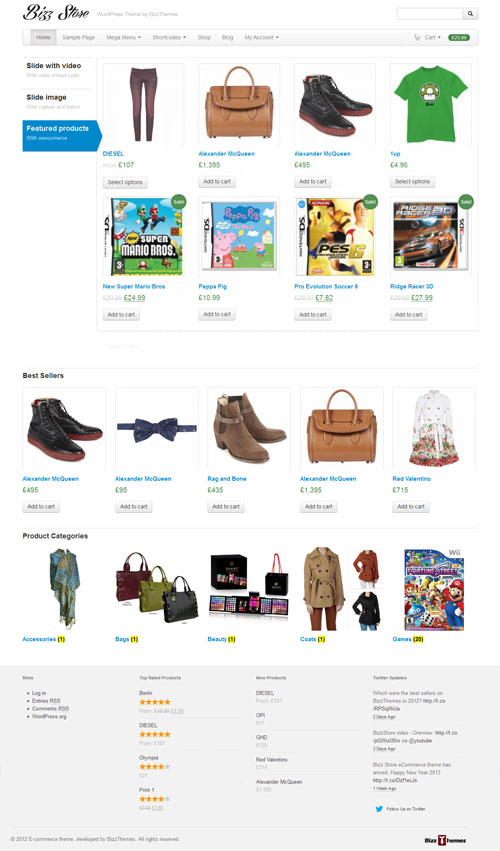 Bizz Store Responsive Ecommerce WordPress Theme