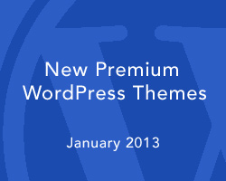 New Premium WordPress Themes January 2013