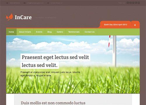 Responsive Non Profit Environmental WordPress Theme – In Care